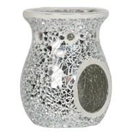 Wax Melt Burner - Silver Lustre Mosaic