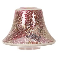 Candle Jar Lamp Shade - Raspberry Crush