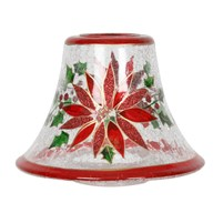 Holly Floral Candle Jar Lamp Shade 16cm