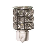 Wax Melt Burner Plug In - Metal and Crystal