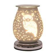 Electric Wax Melt Burner Touch - White Satin Owl