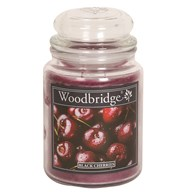 Black Cherries Woodbridge Large Scented Candle Jar