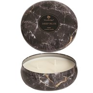 Woodbridge Marble Candle Tin - Deep Blue
