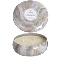 Woodbridge Marble Candle Tin - Peony & Cashmere