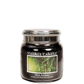 Black Bamboo Village Candle 16oz Scented Candle Jar