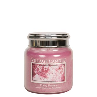 Cherry Blossom Village Candle 16oz Scented Candle Jar -  Metal Lid
