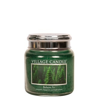 Balsam Fir Village Candle 16oz Scented Candle Jar  - Metal Lid