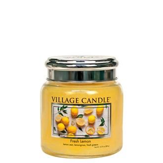 Fresh Lemon Village Candle 16oz Scented Candle Jar