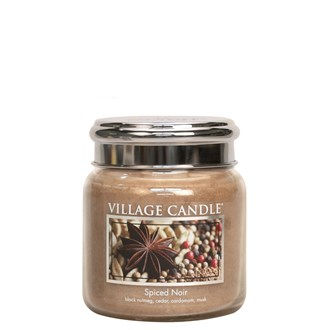 Spiced Noir Village Candle 16oz Scented Candle Jar  - Metal Lid