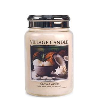 Coconut Vanilla Village Candle 26oz Scented Candle Jar