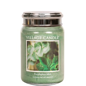 Eucalyptus Mint Village Candle 26oz Scented Candle Jar