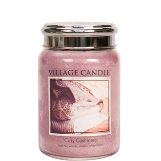 Cozy Cashmere Village Candle 26oz Scented Candle Jar