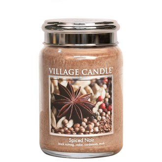 Spiced Noir Village Candle 26oz Scented Candle Jar - Metal Lid