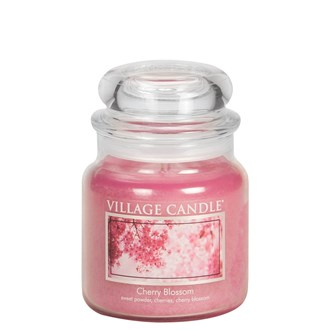 Cherry Blossom Village Candle 16oz Scented Candle Jar - Glass Dome Lid