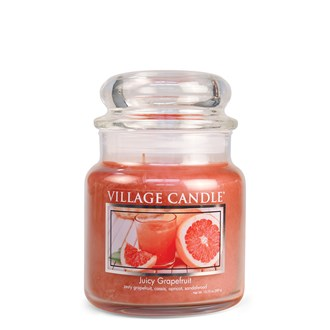 Juicy Grapefruit Village Candle 16oz Scented Candle Jar - Glass Dome Lid