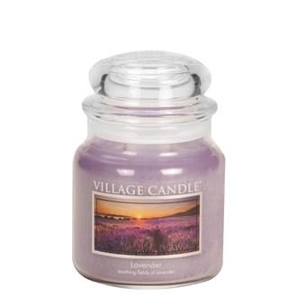 Lavender Village Candle 16oz Scented Candle Jar - Glass Dome Lid