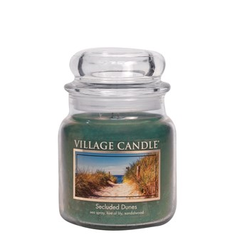 Secluded Dunes Village Candle 16oz Scented Candle Jar - Glass Dome Lid