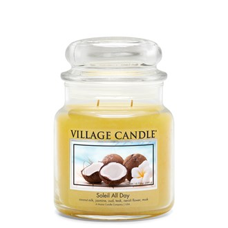 Soleil All Day Village Candle 16oz Scented Candle Jar - Glass Dome Lid