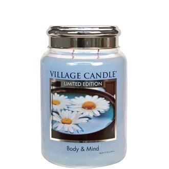 Body & Mind Village Candle 26oz Scented Candle Jar - Metal Lid