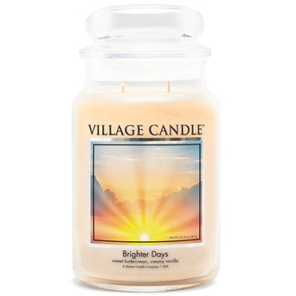 Brighter Days Village Candle 26oz Scented Candle Jar - Glass Dome Lid