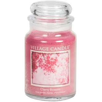 Cherry Blossom Village Candle 26oz Scented Candle Jar - Glass Dome Lid