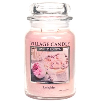 Enlighten Village Candle 26oz Scented Candle Jar - Glass Dome Lid