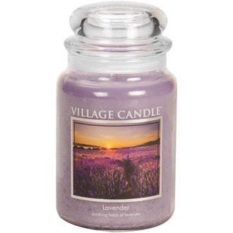 Lavender Village Candle 26oz Scented Candle Jar - Glass Dome Lid