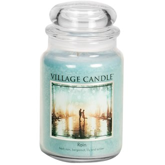 Rain Village Candle 26oz Scented Candle Jar - Glass Dome Lid