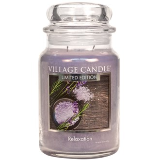 Relaxation Village Candle 26oz Scented Candle Jar - Glass Dome Lid