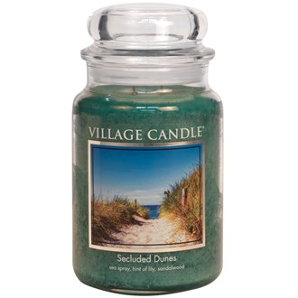 Secluded Dunes Village Candle 26oz Scented Candle Jar - Glass Dome Lid