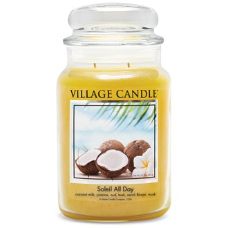 Soleil All Day Village Candle 26oz Scented Candle Jar - Glass Dome Lid