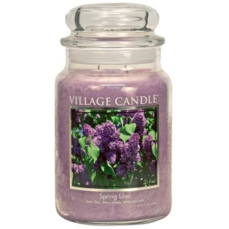 Spring Lilac Village Candle 26oz Scented Candle Jar - Glass Dome Lid