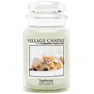 Togetherness Village Candle 26oz Scented Candle Jar - Glass Dome Lid