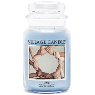 Unity Village Candle 26oz Scented Candle Jar - Glass Dome Lid