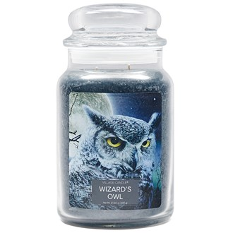 Wizard's Owl Village Candle 26oz Scented Candle Jar - Glass Dome Lid
