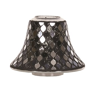 Candle Jar Lamp Shade - Black Mirror Teardrop