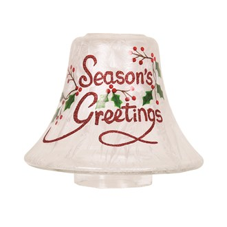 Season's Greetings Candle Jar Lamp Shade 16cm