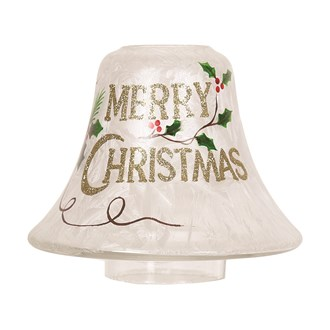 Merry Christmas Candle Jar Lamp Shade 16cm