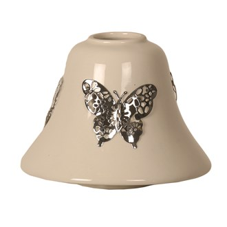 Candle Jar Lamp Shade - Ceramic Butterfly