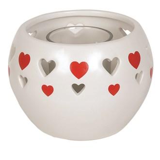 Ceramic Tealight Holder - Red Heart