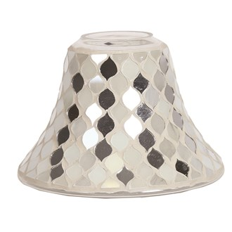 Candle Jar Lamp - Pearl & Silver