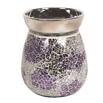 Electric Wax Melt Burner - Purple & Silver