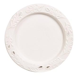 Ceramic Candle Plate - Leaf