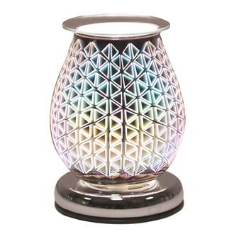Oval 3D Electric Wax Melt Burner - Geo Triangle