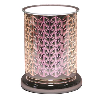 Cylinder 3D Electric Wax Melt Burner - Geo Triangle