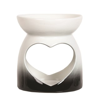Wax Melt Burner - Black Heart Burner