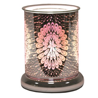 Cylinder 3D Electric Wax Melt Burner - Peacock