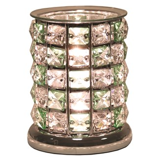 Crystal Electric Wax Melt Burner - Green Check