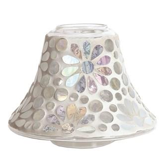 Candle Jar Lamp - Pearl Floral