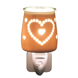 Wax Melt Burner Plug In - Ceramic Heart